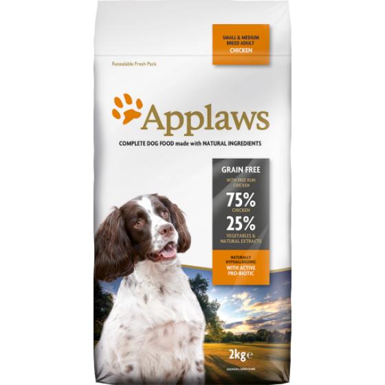 Applaws dog dry Adulto Galinha cães de porte médio e pequeno