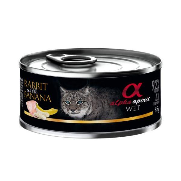 Latinha para gato de coelho com banana - 6 un x 85g
