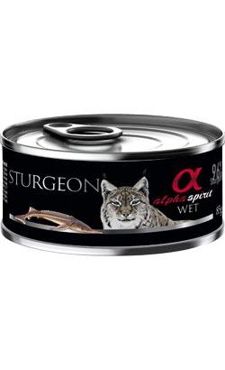 Latinha para gato de esturjão - 6 un x 85g