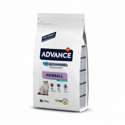 Advance Cat Sterilized Hairball Turkey & Barley 1,5Kg