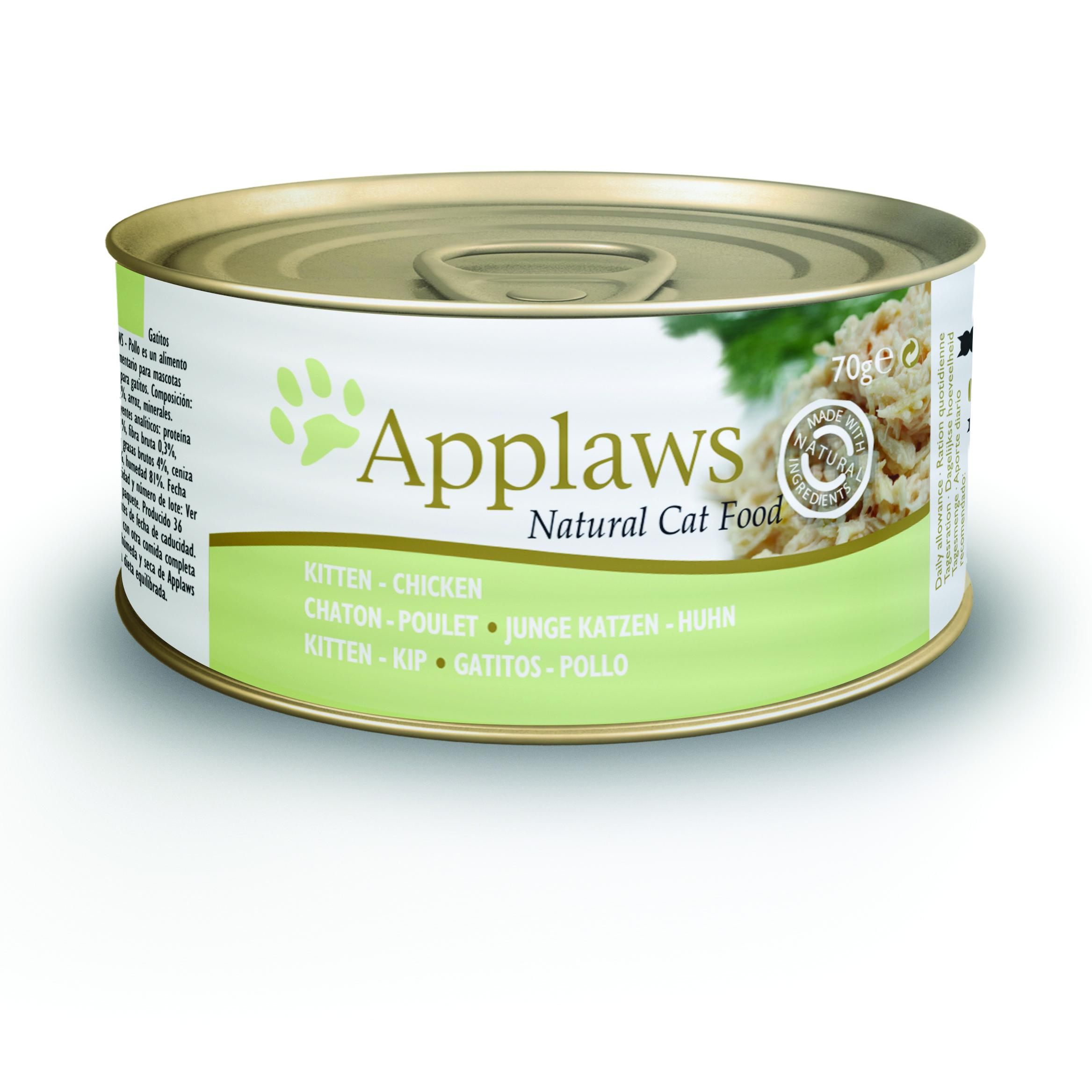 Latinha gato Applaws 70g - Galinha