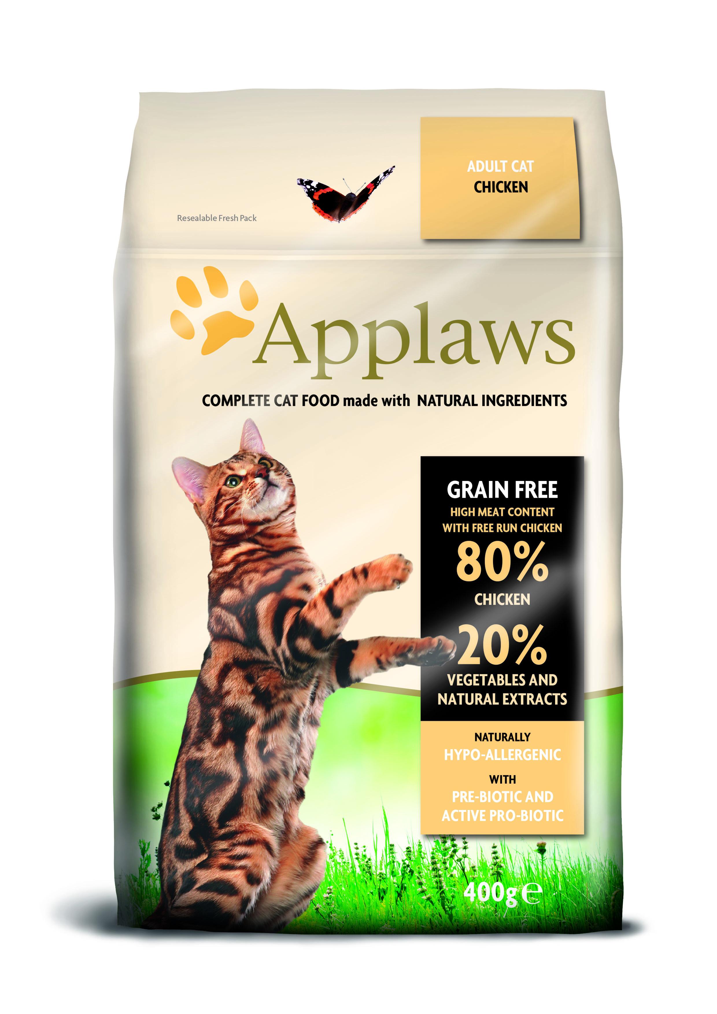 Ração Applaws gato adulto de galinha
