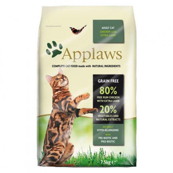 Ração Applaws para gatos de galinha com cordeiro